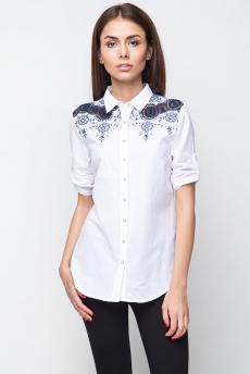 ХИТ продаж: блузка с ажурной вышивкой на плечах Marimay