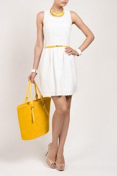Летнее белое платье из 100% хлопка TOM FARR со скидкой