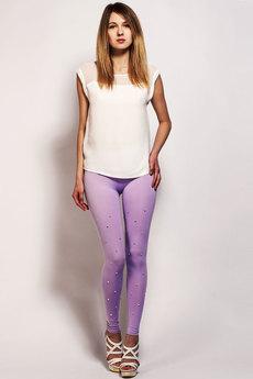 Фиолетовые легинсы со стразами Sheldi