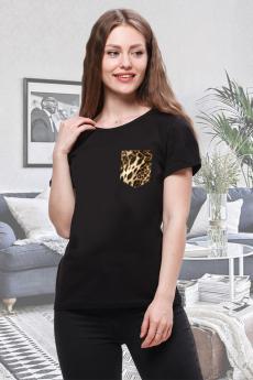 Новинка: футболка с леопардовым карманом Brosko