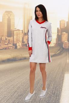 Серое платье в спортивном стиле Натали